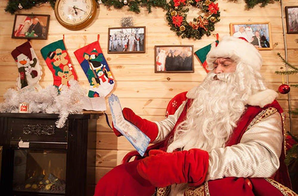 Посетите Деда Мороза в торговом центре