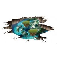 Наклейки на стену Водный мир Острова 60х90 см
