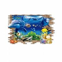 Наклейки на стену Водный мир Дружелюбный дельфин 60х90 см