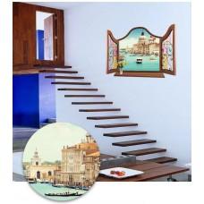 Наклейки на стену Города Венеция 60х90 см