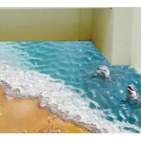 Наклейки на стену На берегу моря 60х90 см