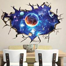Наклейки на стену Космос Вселенная 60х90 см