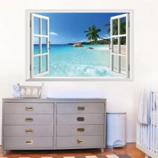 Наклейки на стену Природа На песчаном пляже 60х90 см