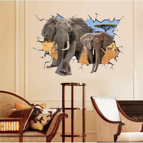 Наклейки на стену Животные Слоны 70х100 см