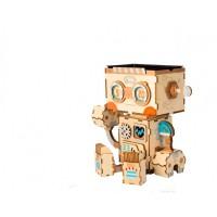3D деревянный пазл Robotime Кашпо Робот