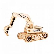 3D деревянный пазл - Экскаватор