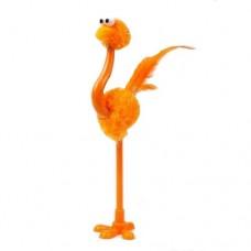 Ручка шариковая Страус оранжевый