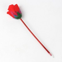 Ручка шариковая Роза, красная