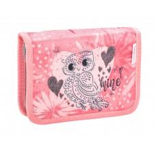 Пенал Belmil - Owl Silver, Сова, розовый