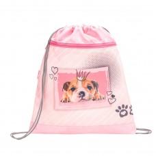 Мешок для обуви Belmil - My Sweet Puppy, Щенок, розовый/серый