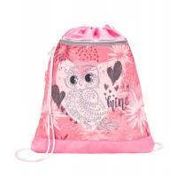 Ранец Belmil Classy - Owl Silver, Сова, розовый, с наполением