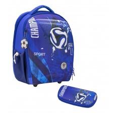 Ранец Belmil Sturdy - Sport Футбол, синий, с наполнением