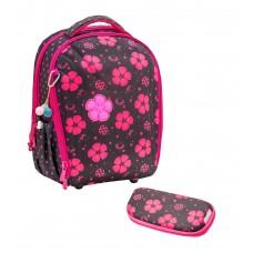 Ранец Belmil Sturdy - Ladybug Цветы/Божья коровка, розовый, с наполнением