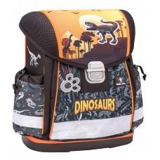 Ранец Belmil Classy - Dino, Динозавр, коричневый
