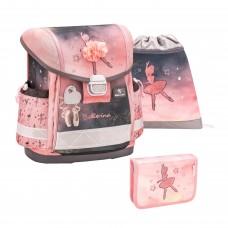Ранец Belmil Classy - Ballerina Black Pink, Балерина, розовый, с наполнением