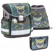 Ранец Belmil Classy - Camouflage, зеленый, с наполнением