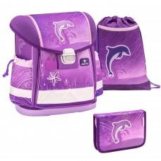 Ранец Belmil Classy - Dolphin Purple, Дельфин, розовый, с наполнением