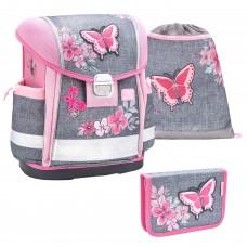 Ранец Belmil Classy - Elegant, Бабочка, розовый, с наполнением
