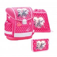 Ранец Belmil Classy - Horse Love, розовый, с наполнением