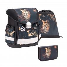 Ранец Belmil Classy - Leopard, Леопард, черный, с наполнением
