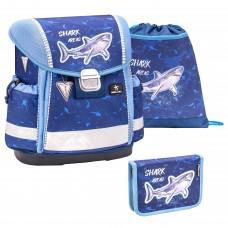 Ранец Belmil Classy - Shark-2, Акула, синий, с наполнением