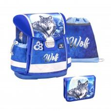 Ранец Belmil Classy - Wolf, Волк, синий, с наполнением