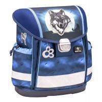 Ранец Belmil Classy - Wolf Moon, Ночной волк, синий, с наполнением