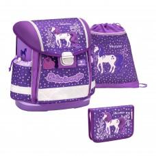 Ранец Belmil Classy - Believe In Magic Purple, Единорог, фиолетовый, с наполнением