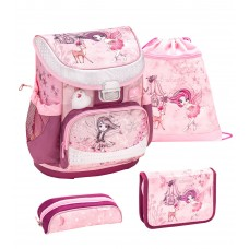 Ранец Belmil Mini-Fit - Fairytale, Фея, розовый, с наполнением