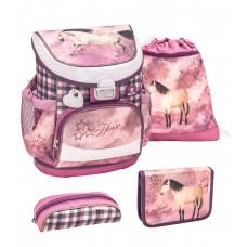 Ранец Belmil Mini-Fit - Horse Champion, розовый, с наполнением