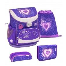 Ранец Belmil Mini-Fit - Love Purple, Сердце, фиолетовый, с наполнением