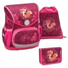 Ранец Belmil Compact - Foxy, Лиса, розовый, с наполнением