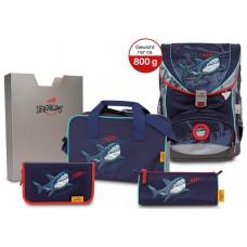 Ранец DerDieDas Ergoflex Exklusiv SuperFlash с наполнением Blue Shark - Синяя акула
