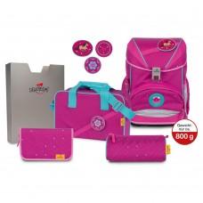 Ранец DerDieDas Ergoflex Buttons с наполнением Boho - Розовый стиль