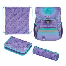 Ранец школьный Herlitz Loop Dolphins, Дельфин, фиолетовый, с наполнением