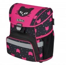 Ранец школьный Herlitz Loop Black Cat, Кот, розовый