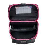 Ранец школьный Herlitz Loop Black Cat, Кот, розовый, с наполнением