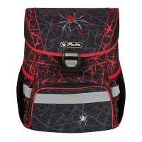 Ранец школьный Herlitz Loop Spider, Паук, черный, с наполнением