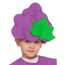 Карнавальная маска Карнавалофф - Фрукты-ягоды. Виноград, 52-54см