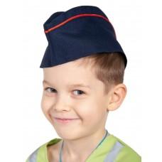 Карнавалофф - Пилотка МВД, синяя с красным кантом, 52-54см