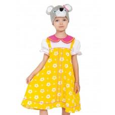 Карнавальный костюм Карнавалофф - Мышка Норушка желтый сарафан, 4-7 лет