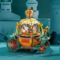 3D деревянный конструктор Музыкальная шкатулка Карета-тыква