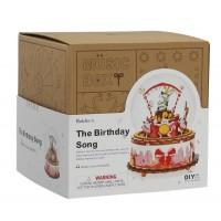3D деревянный конструктор Музыкальная шкатулка Песня на День Рождения