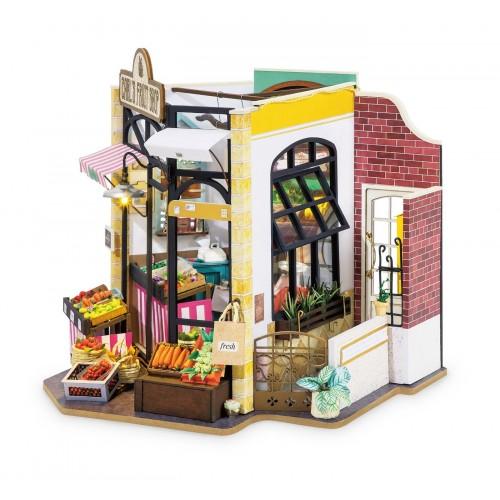 3D деревянный конструктор Миниатюрный дом Фруктовая лавка Карла
