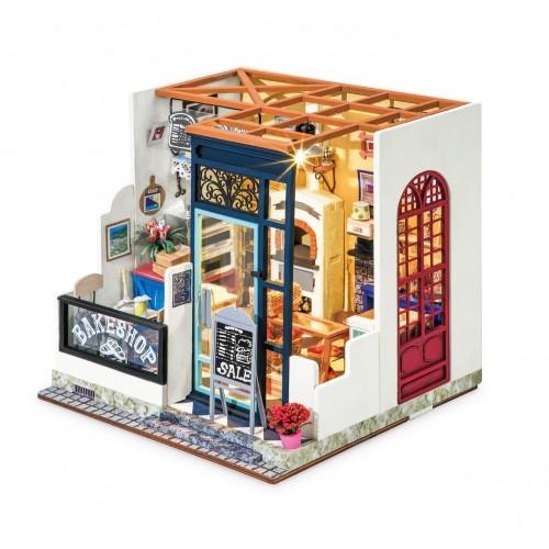 3D деревянный конструктор Миниатюрный дом Кафетерий Нэнси
