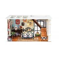 3D деревянный конструктор Миниатюрный дом Парижская полночь