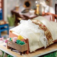 3D деревянный конструктор Миниатюрный дом Спальня Анны