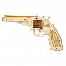 3D деревянный конструктор Robotime Револьвер M60