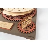 3D деревянный конструктор Robotime Рисовальная машина Да Винчи - Дракон
