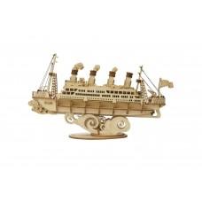 3D деревянный конструктор Robotime Круизный корабль